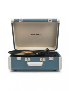 Crosley Portfolio Portable Turntable with Bluetooth - Turquoise/White