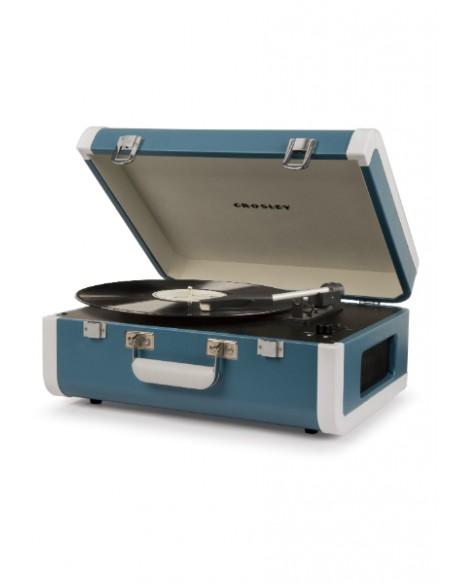 Crosley Portfolio Portable Turntable with Bluetooth - Turquoise/White
